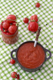 Ketchup do molho de tomate caseiro Imagem de Stock Royalty Free