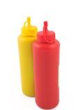 Ketchup en mosterd Royalty-vrije Stock Foto