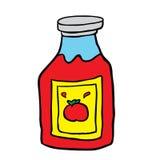 Ketchup estratto a mano libera del fumetto Immagine Stock