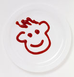 Ketchup face Royalty Free Stock Photo