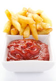 Ketchup and french fries Stock Photo