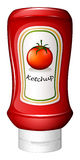 A ketchup inside the red bottle Royalty Free Stock Photography