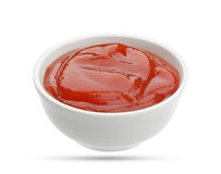 Ketchup Isolated On White Stock Photo
