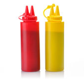 Ketchup and mustard Royalty Free Stock Image
