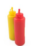 Ketchup and mustard. For fast food Royalty Free Stock Photo