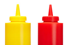 Ketchup and mustard bottles Stock Photography