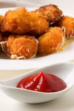 Ketchup with nuggets Stock Photography