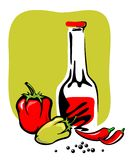 Ketchup and pepper Royalty Free Stock Photography