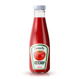 Ketchup Realistic Bottle vector illustration