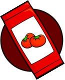 Ketchup sachet Royalty Free Stock Image
