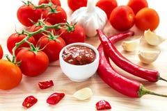ketchup Salsa de la salsa de tomate imagenes de archivo
