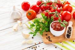 ketchup Salsa de la salsa de tomate foto de archivo libre de regalías