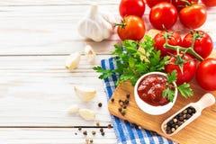 ketchup Salsa de la salsa de tomate imagen de archivo