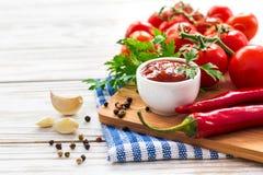 ketchup Salsa de la salsa de tomate fotografía de archivo