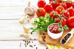 ketchup Salsa de la salsa de tomate fotografía de archivo libre de regalías