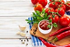ketchup Salsa de sauce tomate Photographie stock
