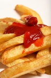 Ketchup sauce french fries Stock Photo