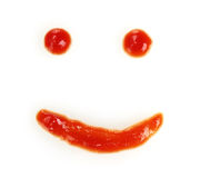 Ketchup smile Royalty Free Stock Image