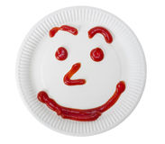 Ketchup smile Royalty Free Stock Photos