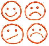 Ketchup smiles stock illustration