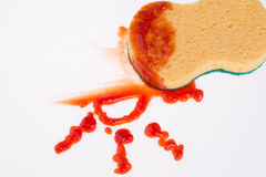 Ketchup stain Royalty Free Stock Photography