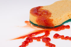 Ketchup stain Royalty Free Stock Images