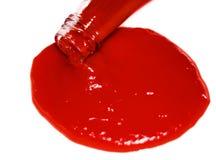 Ketchup, tomatensaus Royalty-vrije Stock Afbeeldingen