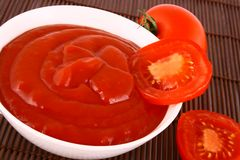 Ketchup-tomato paste Royalty Free Stock Images
