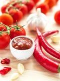 Ketchup. Tomato sauce salsa Royalty Free Stock Photos