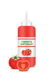 Ketchup  with a tomato , tomato sauce Royalty Free Stock Images