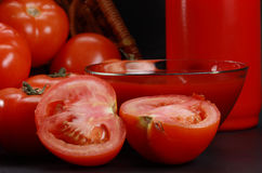 Ketchup and tomatoes Stock Photography