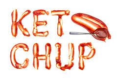 Ketchup word Stock Photo