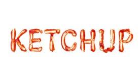 Ketchup word  Stock Image