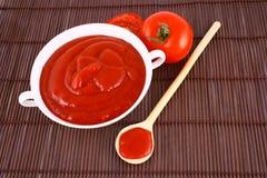 ketchuppastetomat Royaltyfri Foto