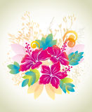 Ketmie. Fond floral. Photographie stock