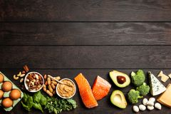 Keto συστατικά τροφίμων διατροφής Στοκ Φωτογραφίες