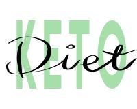 Keto Diet hand drawn lettering stock illustration