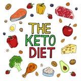 Ketogenic Diet vector illustration. stock illustration
