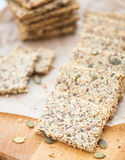 Ketogenic low carb crackers Royalty Free Stock Image