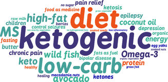 Ketogenic Word Cloud Royalty Free Stock Image