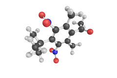 Ketone moschus, a light yellow crystalline solid. Insoluble in w Royalty Free Stock Image