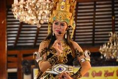 Ketoprak is een verhaal over het oude Javanese koninkrijk, en het recentste die verhaal door de Javanese dialoog wordt gewijzigd stock foto's