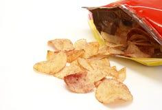 Ketschup-Chips stockbild