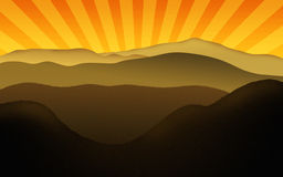 Kette der Berge Lizenzfreies Stockbild