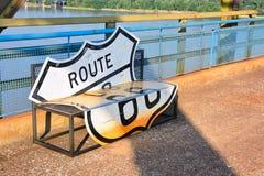 Kette der Felsenbrücke auf dem Fluss Mississipi Lizenzfreie Stockfotos