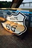 Kette der Felsenbrücke auf dem Fluss Mississipi Lizenzfreie Stockbilder