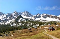 Kette Orla-Perc in den polnischen Tatra Bergen stockbilder