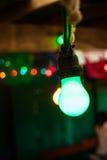 Kette von farbigen Lichtern Stockbilder