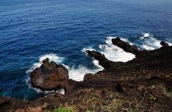 Kette von vulkanischen Halbinseln Stockbilder