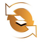 Ketten-Logo Concept Stockfoto